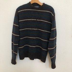 Pendleton blue brown stripes sweater Sz M